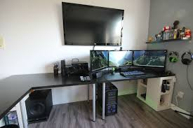 Computer Set Ups by Desk L Shaped Desk Gaming Intended For Fascinating Cool Computer