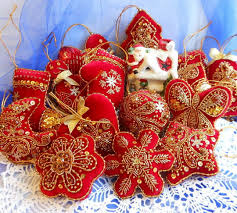 embroidered christmas beautiful embroidered christmas ornaments magic