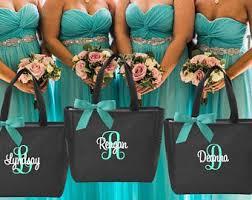 bridal party tote bags bridesmaid tote bag etsy