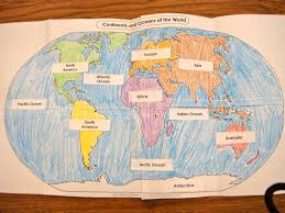 Continents And Oceans Worksheets Primary Punch February 2012
