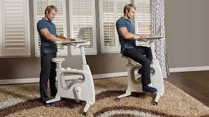 deskcise pro blends a standing desk with an exercise bike