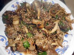 cuisiner des rognons recette de rognons d agneau aux chignons saveurs d asie