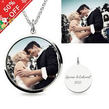 all round necklace images Full color round shape photo necklace of sterling silver jpg