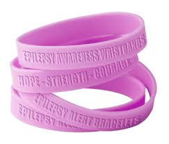 rubber bracelet made images Epilepsy awareness wristbands made of silicone rubber bracelets png
