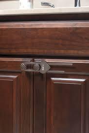 sliding cabinet locks brown