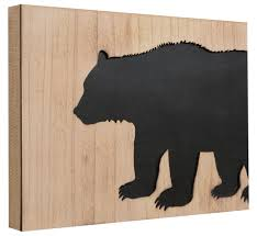 black wood cutout wall sign clearance