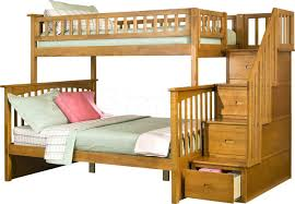 bedroom fancy columbia staircase twin over full bunk bed white