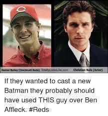 Christian Bale Meme - homer bailey cincinnati reds totallylookslikecom christian bale