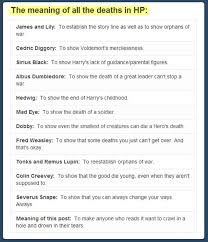 the meaning of all the deaths in harry potter the meta picture
