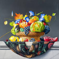 basket of fruits aponovich still with basket of fruits and vegetables
