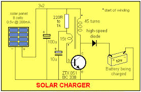 How To Charge Solar Lights - solar charge controller circuit diagram homemade circuit designs