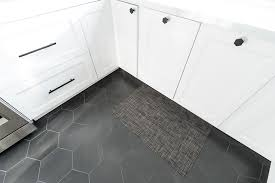 white kitchen cabinets black tile floor kitchen remodel before and after photos and links