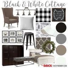 mood board a black u0026 white guest cottage u2013 our newest small space