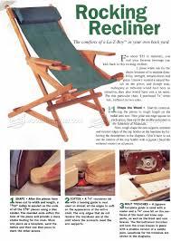 rocking recliner plans