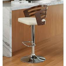 Cream Leather Bar Stools Adele Cream Faux Leather Adjustable Swivel Barstool 8f143