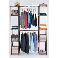 trinity 84 in h dark bronze expandable closet organizer tbfpbr