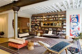 Attic Apartment Ideas Apartment Hang Art And Library Room In A Loft Apartment Ideas