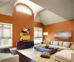 vaulted ceiling living room paint color cabin staircase