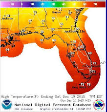 temperature map of florida florida weather significant cold front of fall weatherplus