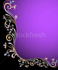 background frame with jewels golden ornament vector illustration