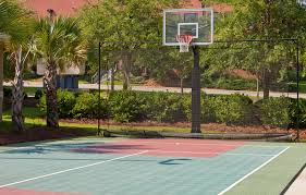 outside basketball court cost home outdoor decoration