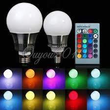 5w 10w e27 e14 rgb led light color changing l bulb 110v 220v