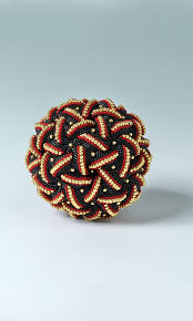 astrometry ball by pamm horbit home décor ball with seed beads