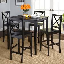 dining room table and chair sets simple living cross back counter height 5 table and chair