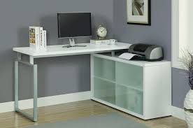 furniture perfect white l shaped computer corner desk plan with