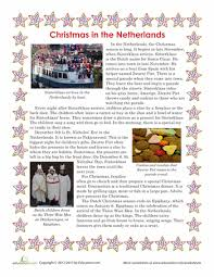 christmas in the netherlands worksheets and holidays