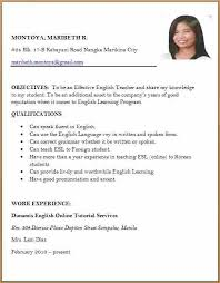 example of resume for a job resume example for high