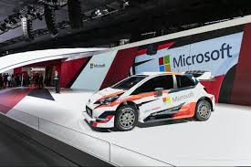 toyota rally car toyota and microsoft team up with rally legend tommi mäkinen for