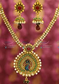 jewelry indian necklace images Nl1921 gold plated peacock design artificial traditional indian JPG