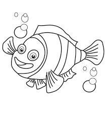 clown fish coloring page decimamas vector illustration of happy