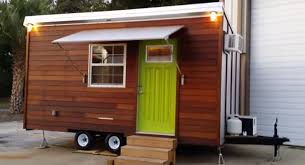 trekker trailers made this tiny house with a bathtub inside