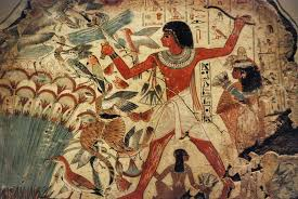 egyptian hunting in the marshes illustration ancient history