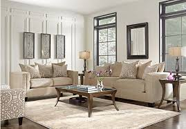 Affordable Living Room Sets Home Sidney Road Taupe 5 Pc Living Room 1 977 00