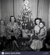 1950s historical a happy family xmas mum grandma and children