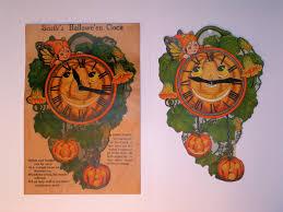 hallowe u0027en clock u0026 envelope usa beistle 1923