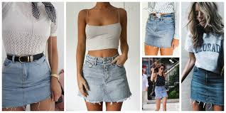 denim skirt how to wear the denim skirt in 2017 like a grown up the fashion
