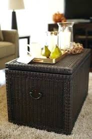 Wicker Storage Ottoman Coffee Table Wicker Coffee Table Storage Christlutheran Info