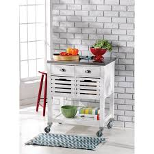 stainless steel top kitchen cart u2013 home design and decorating