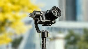 hand held gimbal tracking shots zhiyun crane camera stabilizer