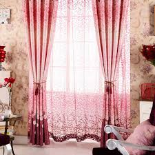 rideau pour chambre a coucher romantique couleur coton poly blend simple rideau pour le