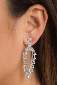 statement earrings janice silver rhinestone statement earrings 12 tobi us
