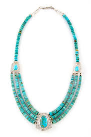 turquoise necklace images Turquoise and sterling silver necklace by mary and everett teller jpg