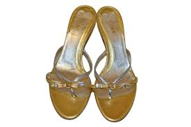 metallic gold ribbon authentic fendi metallic gold and silver ribbon bow sandals shoes