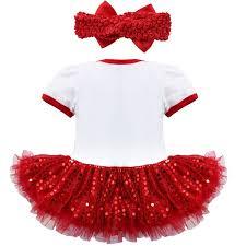 my christmas baby girl yizyif baby infant 1st christmas costume tutu