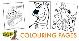 cool scooby doo kids colouring pages mum madhouse