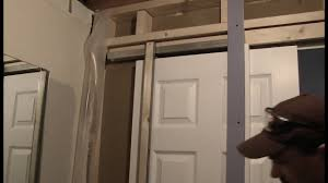 How To Hang A Barn Door by How To Install A Pocket Door Youtube